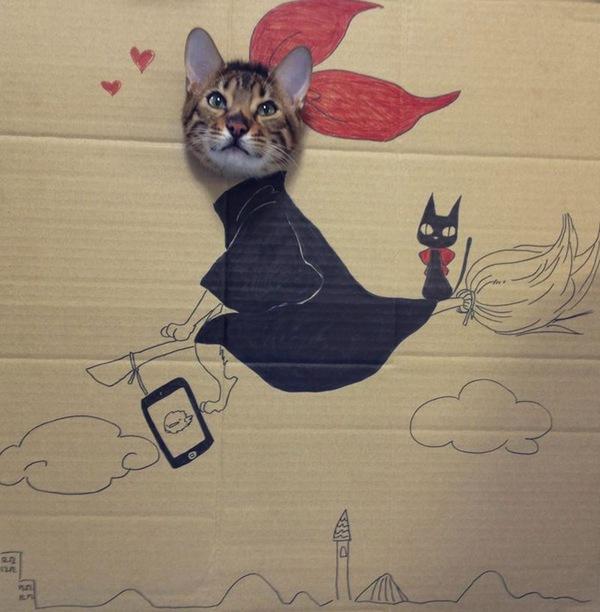 """Loài mèo biến hình qua những sáng tạo """"buồn cười"""" 8"""