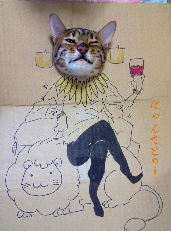 """Loài mèo biến hình qua những sáng tạo """"buồn cười"""" 9"""