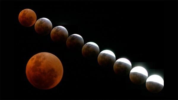 """Video trực tiếp: """"Mặt trăng máu"""" đang xảy ra trên bầu trời 2"""