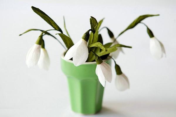 Cắt giấy làm hoa giọt tuyết xinh như hoa thật 8