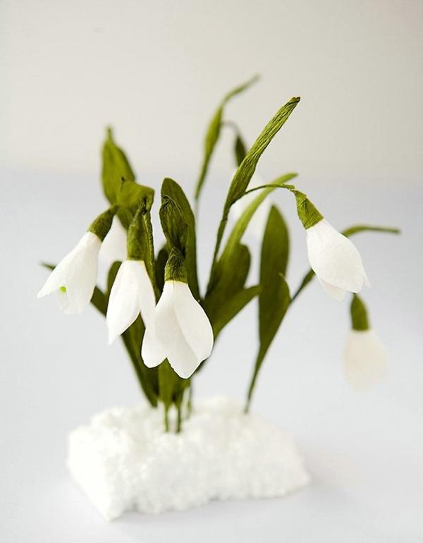 Cắt giấy làm hoa giọt tuyết xinh như hoa thật 9