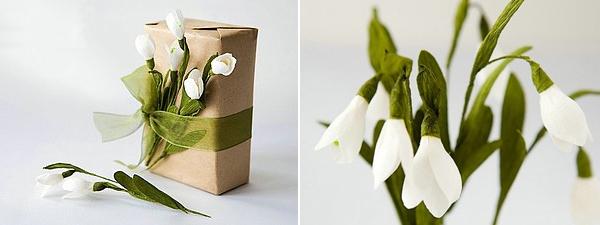 Cắt giấy làm hoa giọt tuyết xinh như hoa thật 10