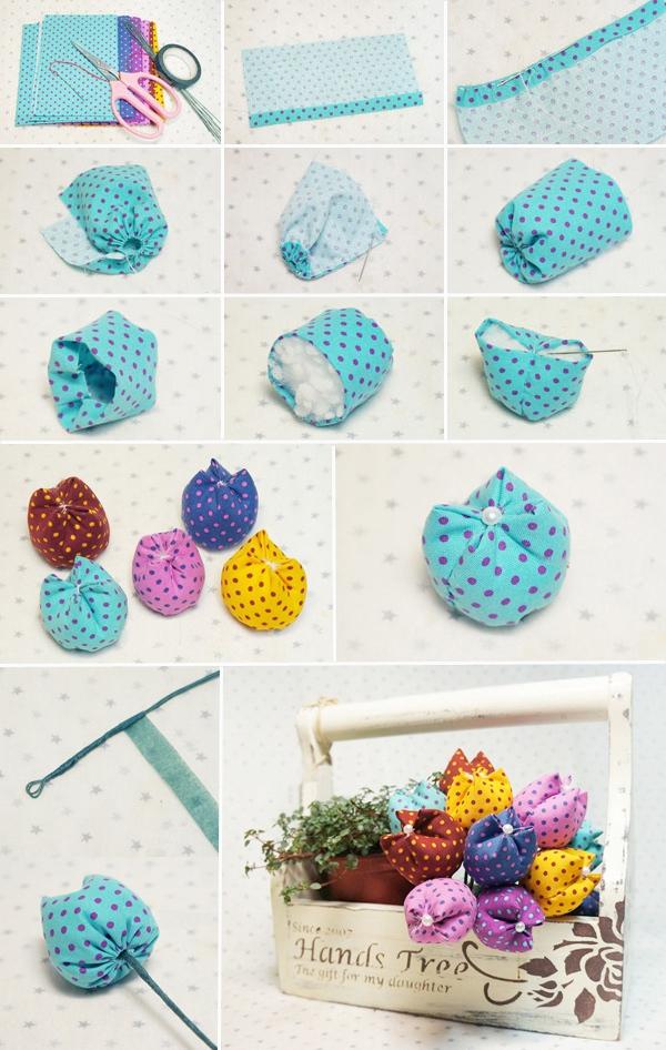 Gợi ý 3 cách làm hoa vải đơn giản mà đẹp 1