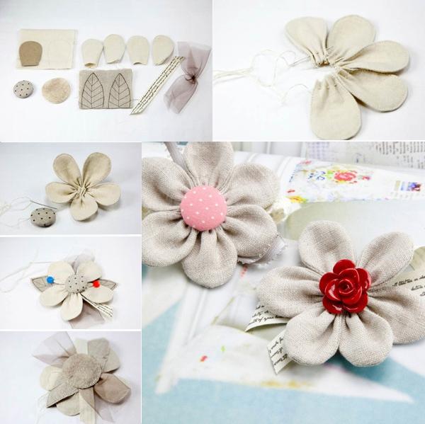 Gợi ý 3 cách làm hoa vải đơn giản mà đẹp 2