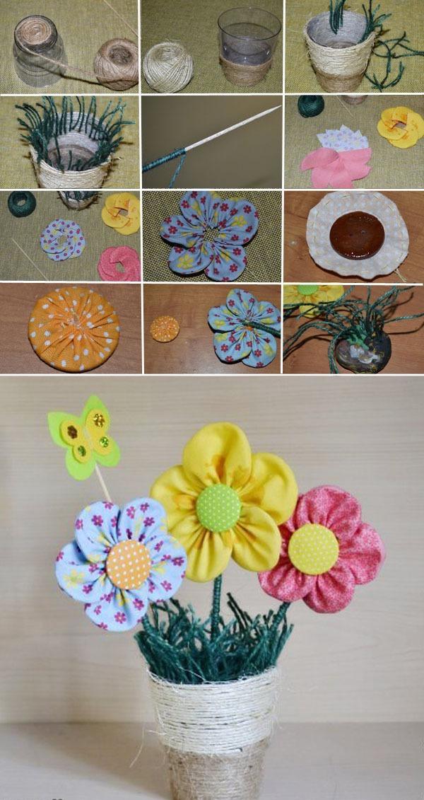 Gợi ý 3 cách làm hoa vải đơn giản mà đẹp 3