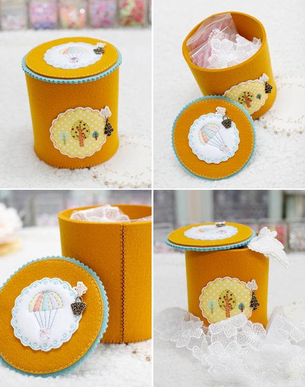 Tự chế hộp đựng đồ bằng vải gọn gàng đáng yêu 10