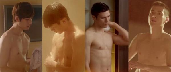Bộ tứ mỹ nam của Dương Mịch tắm trần nóng bỏng 1