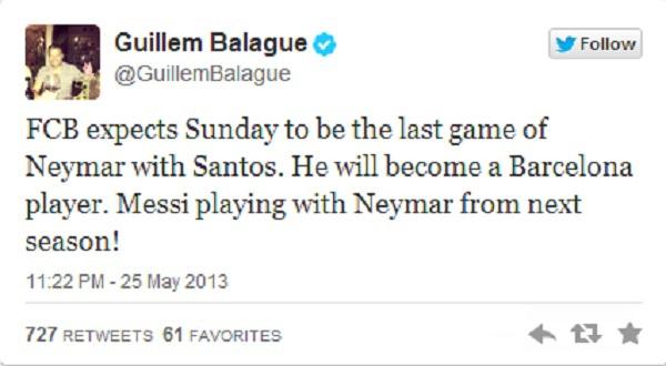 Santos đã chấp nhận bán Neymar cho Barca 1
