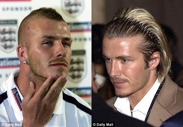 Beckham gây chú ý với mái tóc dài bất thường 7