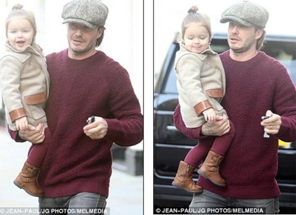 Bé Harper Seven tươi rói dạo phố bên bố Beckham 3