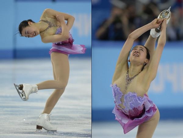 Olympic Sochi: Người đẹp trượt băng Nhật gặp sự cố trong ngày thi đầu 4