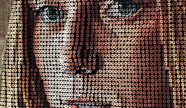 Tròn mắt với những bức chân dung và tác phẩm nghệ thuật được làm từ ốc vít 9