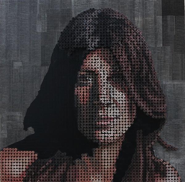 Tròn mắt với những bức chân dung và tác phẩm nghệ thuật được làm từ ốc vít 10