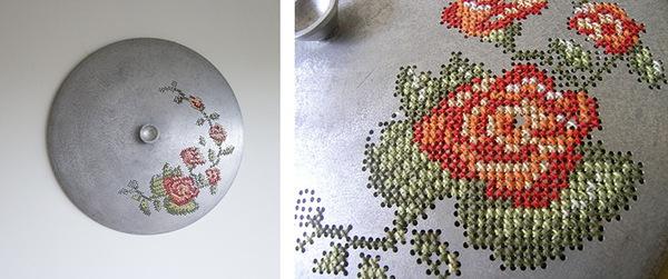Những tác phẩm thêu trang trí độc đáo trên vật liệu kim loại 6