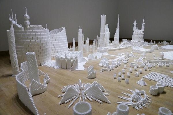 Thích mắt với thành phố màu trắng được làm từ 500 nghìn viên đường   1