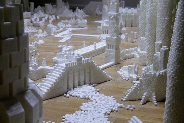 Thích mắt với thành phố màu trắng được làm từ 500 nghìn viên đường   9
