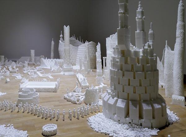 Thích mắt với thành phố màu trắng được làm từ 500 nghìn viên đường   10