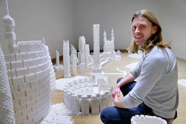 Thích mắt với thành phố màu trắng được làm từ 500 nghìn viên đường   14