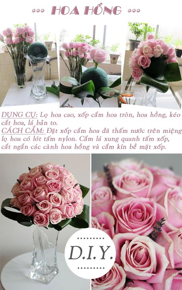 3 cách cắm hoa hồng cho bạn vụng về 2
