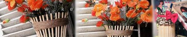 Chế lọ hoa độc đáo từ những thứ có sẵn 8