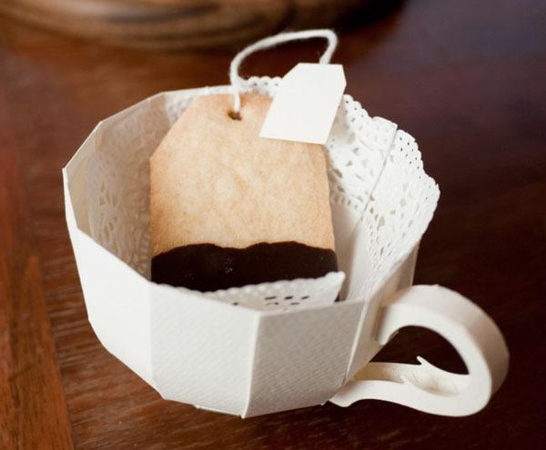 Khéo léo cắt dán hộp đựng hình tách trà 11