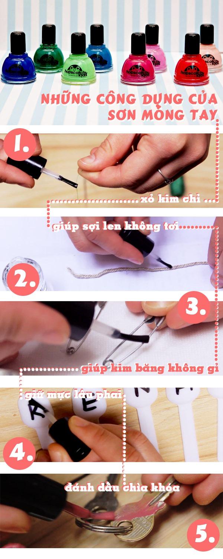 Những công dụng hữu ích của sơn móng tay 1
