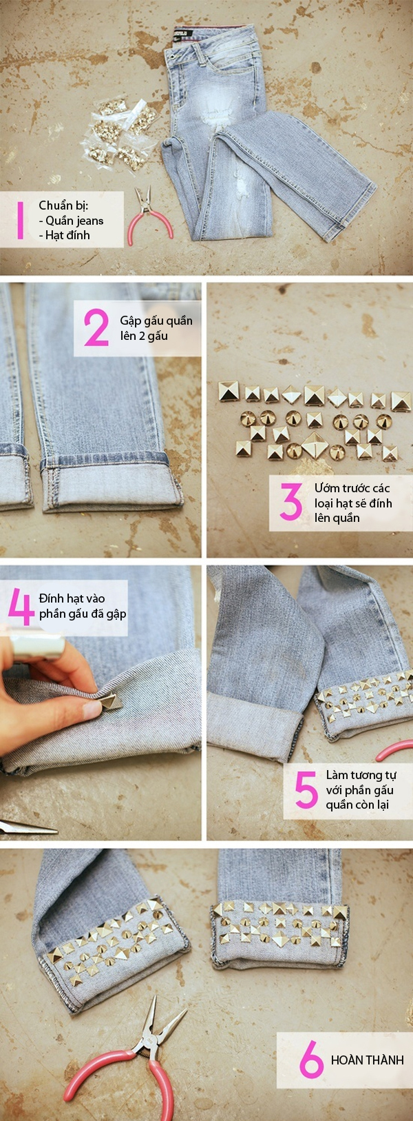 7 cách đơn giản biến hóa cho chiếc quần jeans cũ 1