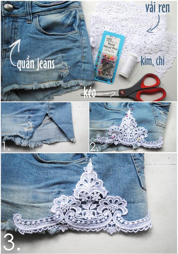 7 cách đơn giản biến hóa cho chiếc quần jeans cũ 5