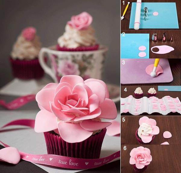 Những cách trang trí cupcake độc đáo từ fondant 1