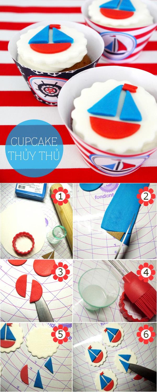 Những cách trang trí cupcake độc đáo từ fondant 4