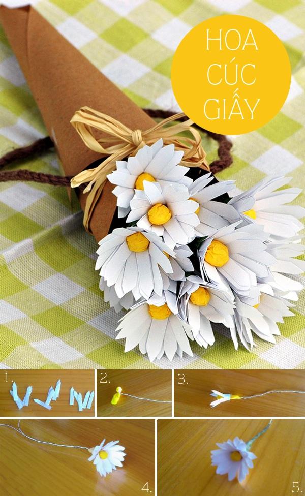 Tuyển tập hoa xinh làm từ giấy và vải vụn 1