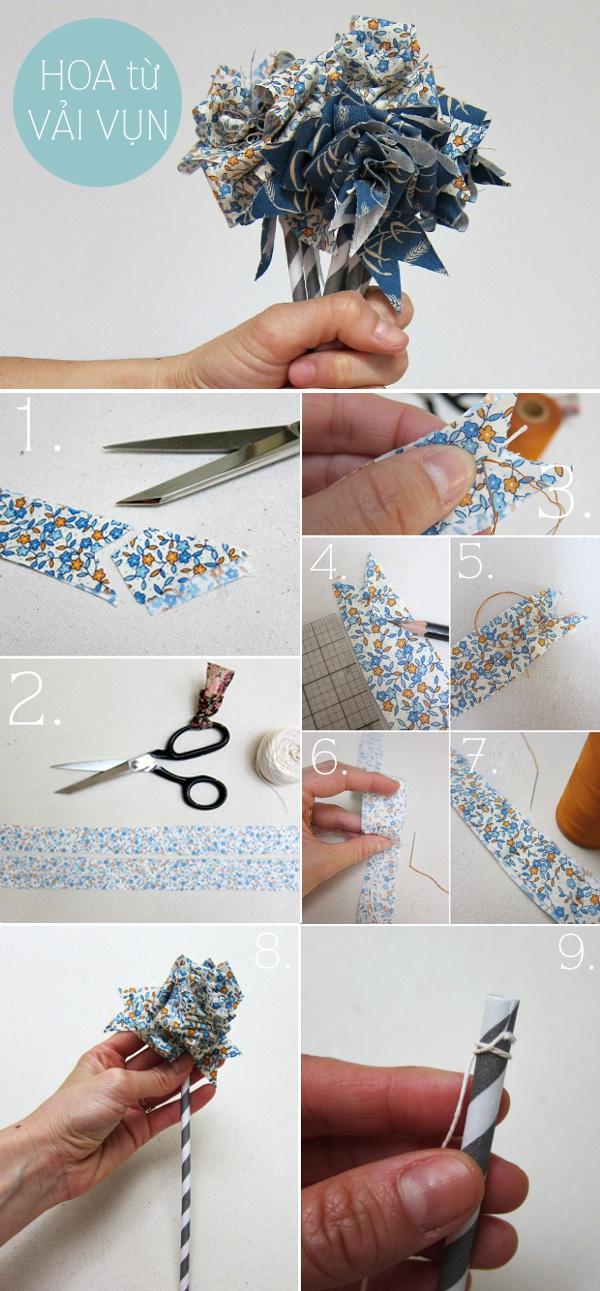 Tuyển tập hoa xinh làm từ giấy và vải vụn 2