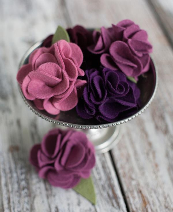 Tuyển tập hoa xinh làm từ giấy và vải vụn 3