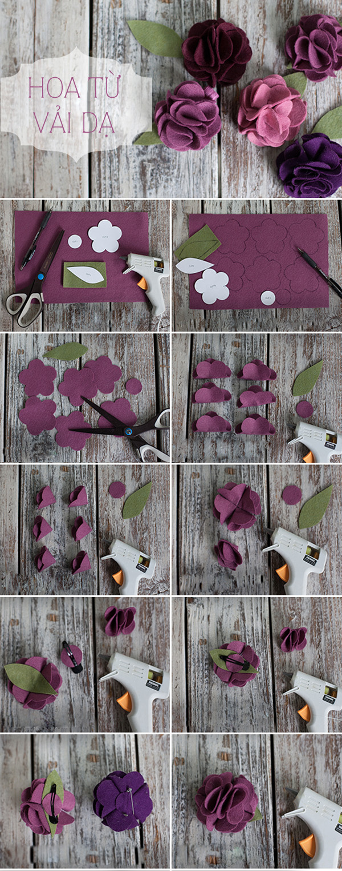 Tuyển tập hoa xinh làm từ giấy và vải vụn 4