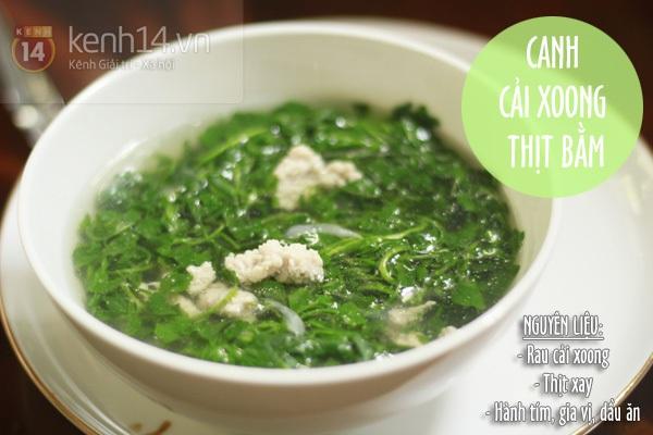 Gợi ý bữa tối với tôm chiên tỏi và súp lơ xào thịt 4