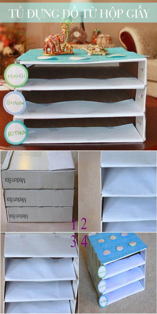 Biến hóa các kiểu vỏ hộp thành đồ hữu ích xinh xắn 3