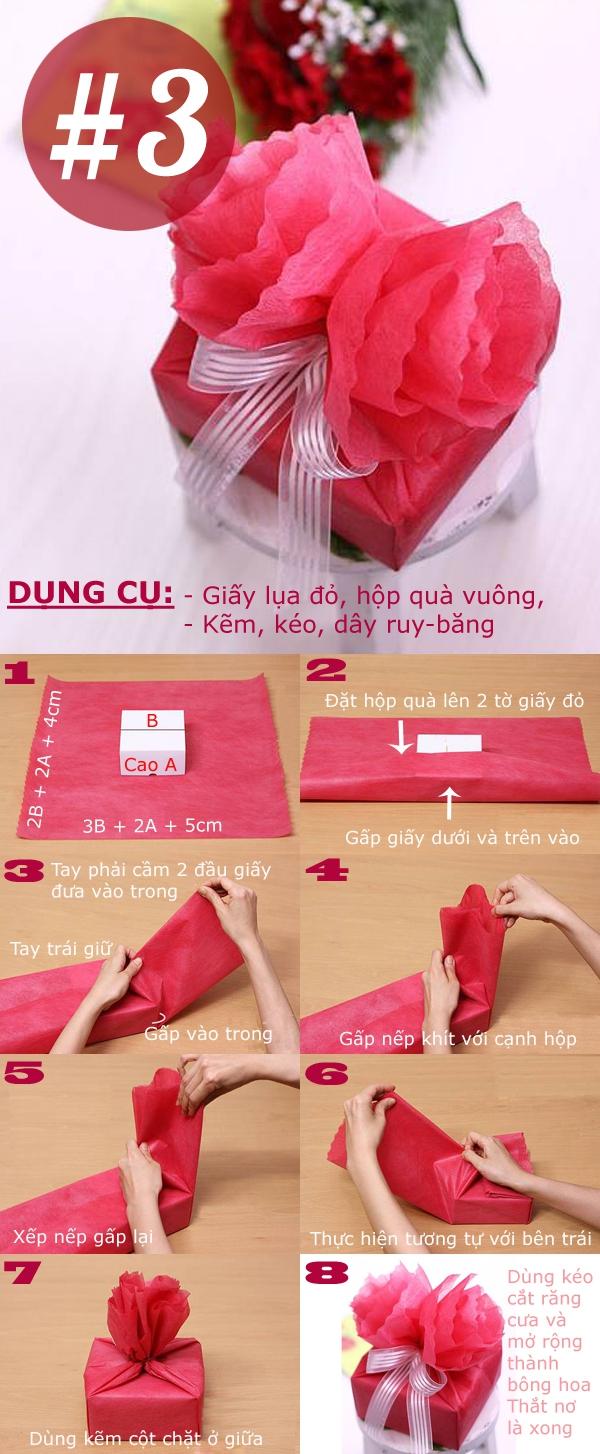 Tổng hợp các cách gói quà vừa xinh vừa tiện dụng 3