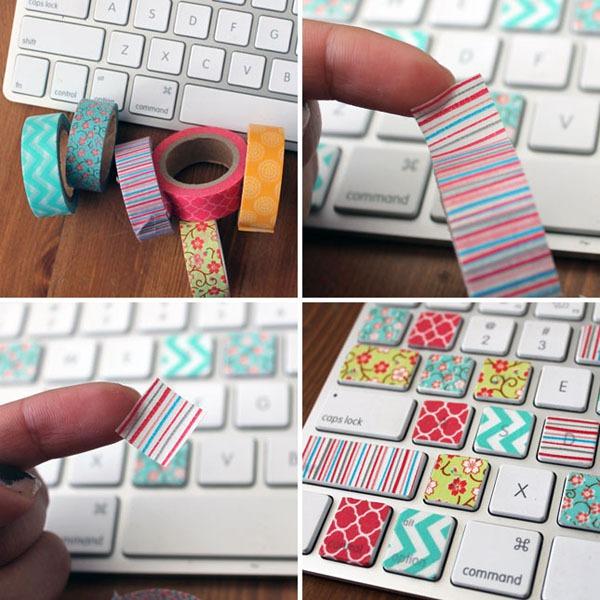 Những cách trang trí đồ xinh xắn chỉ với băng dính màu 1