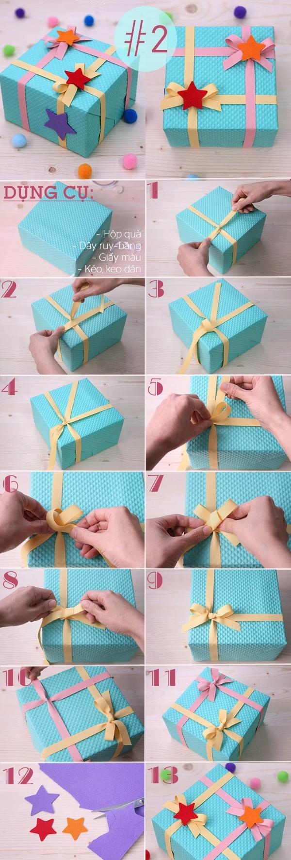 4 kiểu trang trí hộp quà sáng tạo dễ làm 2