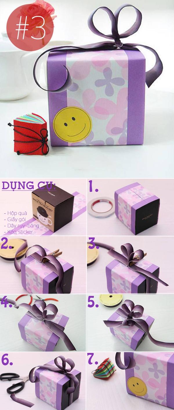 4 kiểu trang trí hộp quà sáng tạo dễ làm 3
