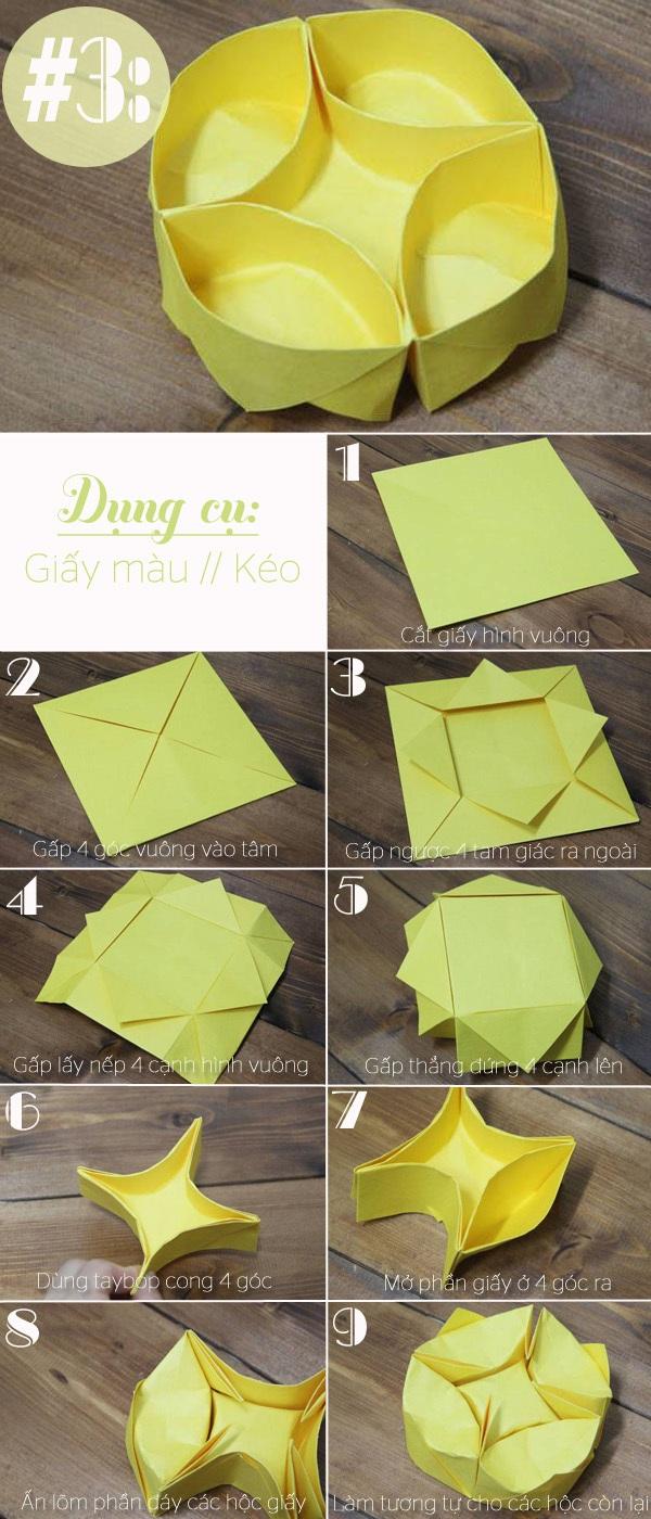 3 cách gấp hộp giấy siêu nhanh mà tiện lợi 3
