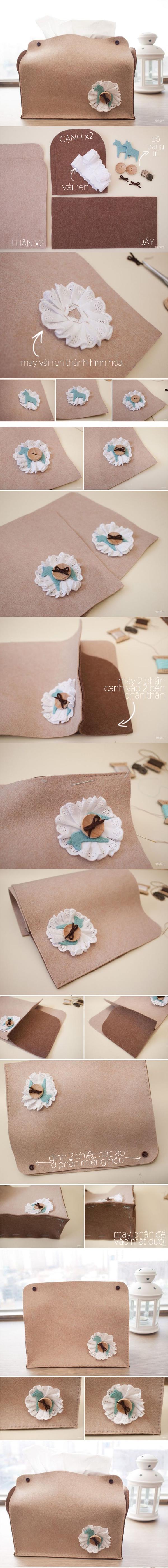 3 kiểu sáng tạo hay ho đơn giản cho chiếc hộp đựng khăn giấy 2