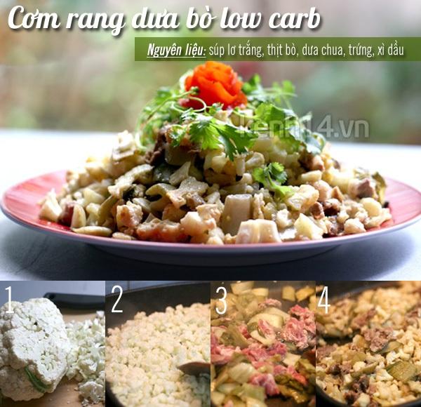 Giảm cân nhanh với thực đơn low carb ngon lành 1
