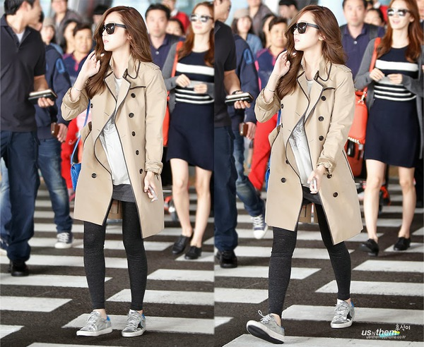 """Thanh Hằng """"đụng"""" áo khoác hàng hiệu và cách mix với Jessica (SNSD) 2"""