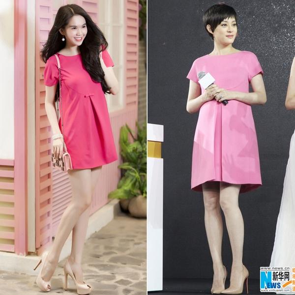 Tôn Lệ diện váy Valentino giống hệt váy trong BST của Ngọc Trinh? 4