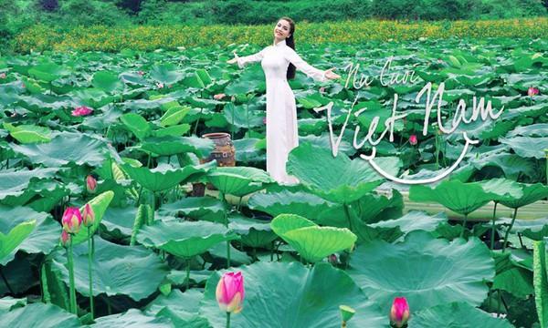 Muôn vẻ mỹ nhân Việt khoe sắc bên hoa sen 19