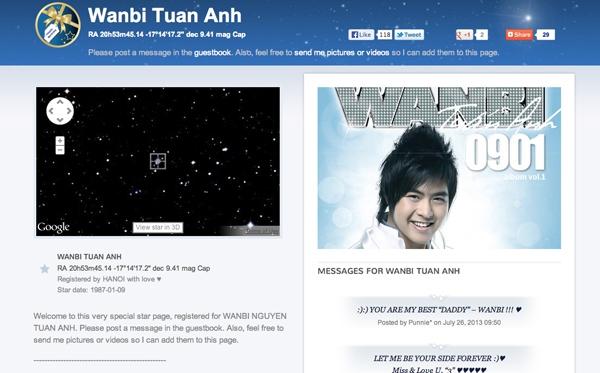 Một ngôi sao trên bầu trời đã mang tên Wanbi Tuấn Anh 3