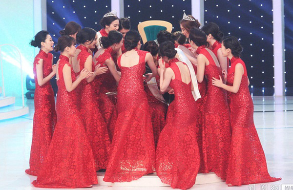 Tân Hoa hậu Quốc tế Trung Quốc 2015 bị chê da đen, xồ xề 5