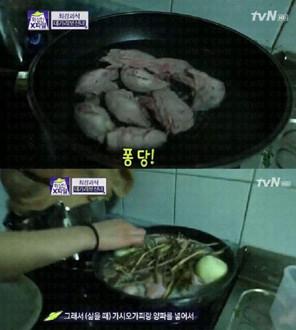 """Hàn Quốc: Cô nàng xinh đẹp """"cuồng"""" ăn các loại... đầu động vật 3"""