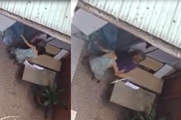 Clip con gái mắng và đánh mẹ già yếu 90 tuổi gây phẫn nộ 1